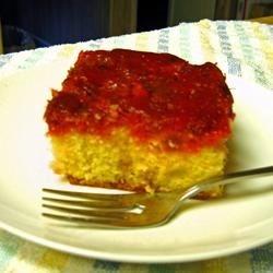 Rhubarb Upside Down Cake III