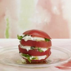 Stacked Tomato and Burrata Salad Recipe