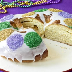 Buttermilk King Cake with Cream Cheese Filling Recipe