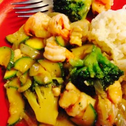 Honey-Ginger Shrimp and Vegetables Recipe