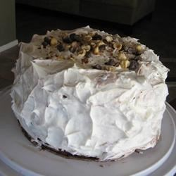 italian cream cake with whipd cream frosting