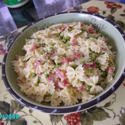 Pasta with Salami and Peas Recipe