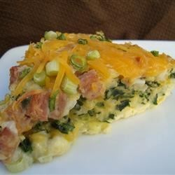 Photo of Green Eggs and Ham Quiche by M