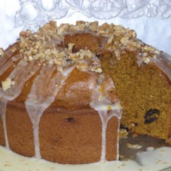 Pumpkin Bread with Orange Glaze