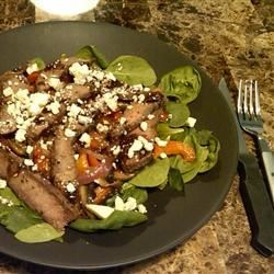 Our flat iron and spinach salad!