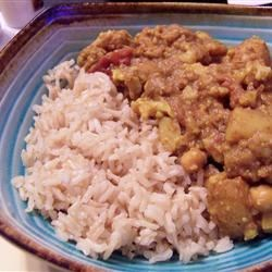 Aloo Gobi with Coconut Basmati Rice