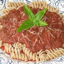 Easy Fusilli with Tomato Pesto Sauce Recipe