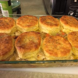 Quick Homestyle Chicken and Biscuits Recipe