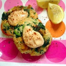Photo of Moroccan Salmon Cakes with Garlic Mayonnaise by Emily