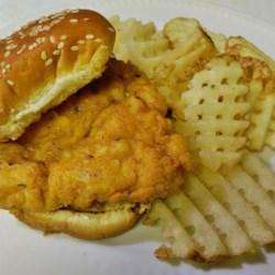 fried chicken sandwich printer friendly