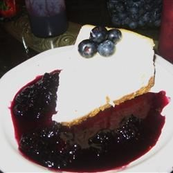 Cheesecake with Blueberries and Blueberry Sauce