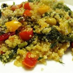 Chicken Chorizo on Quinoa with Peppers Recipe