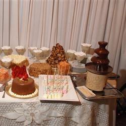 dessert buffet at my cousins wedding :)