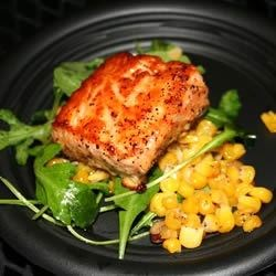 Salmon with Pecan Honey Glaze Recipe