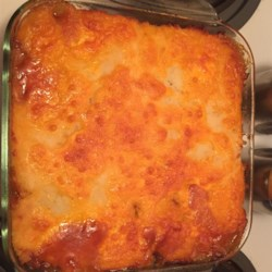 Cheesy Beef and Bean Bake Recipe