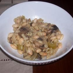 Barley and Mushrooms with Beans Recipe