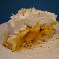 Fresh Peach Angel Pie Recipe