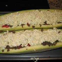 Stuffed Zucchini - Hamburger/Cottage Cheese #2