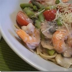 Shrimp And Mushroom Angel Hair Pasta Recipe Allrecipes Com