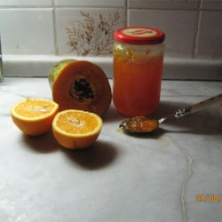 fresh papaya jam