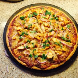 Recipe of chicken pizza at home