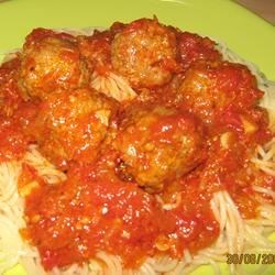 jenn's out of this world spaghgetti and meatballs