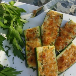 Grilled Garlic Parmesan Zucchini Recipe