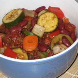Slow Cooker Vegetable Chili Recipe