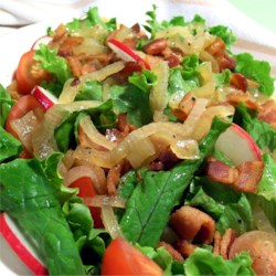 Lettuce with Hot Bacon Dressing Recipe
