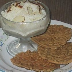 Yogurt Almond Ice Cream Recipe