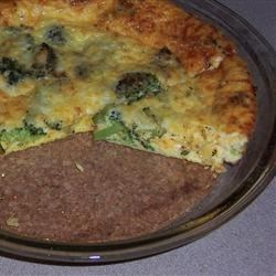 Spinach & Broccoli Crustless Quich