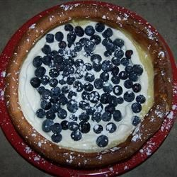 Baked Pancakes with fresh Blueberries & Whipped Cream
