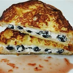 BlueBerries & Cream French Toast with Orange Maple Syrup