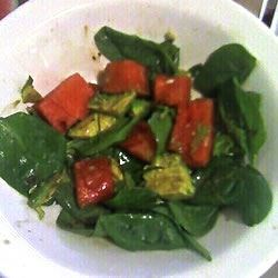 Avocado Watermelon Spinach Salad Recipe