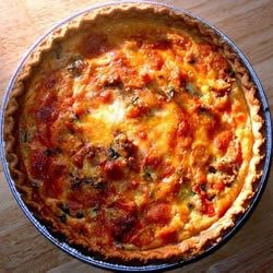 Vegetarian Quiche Recipe: Tomato and Basil Quiche