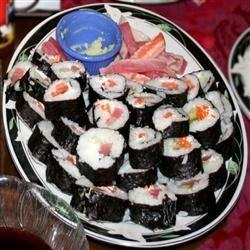 various rolls (crab, tuna & veggie)