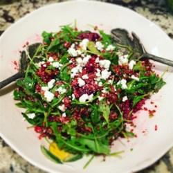 quinoa beet and arugula salad printer friendly