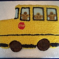 School Bus Back to School Cake