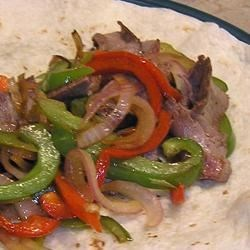 Photo of Steak, Onion, and Pepper Fajitas by lv2ck