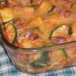 Spicy Mexican Style Zucchini Casserole