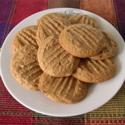 Easy Whole Wheat Peanut Butter Cookies Recipe