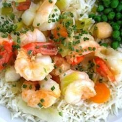 King Prawn and Scallop in Ginger Butter Recipe