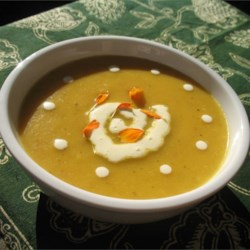 Carrot Soup with Potatoes and Cream