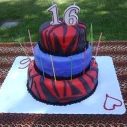 purple & red zebra cake