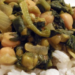 Chole Saag Recipe