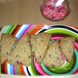 Cranberry Scones and Butter