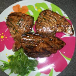 Grilled Lime Cilantro Ahi with Honey Glaze Recipe