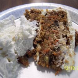 Slice of Best Carrot Cake Ever