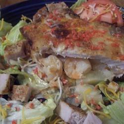 Shrimp and Pear Breaded Stuffed Pork Chops
