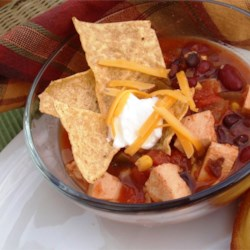 slow cooker chicken taco soup printer friendly
